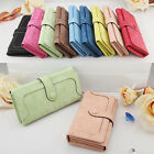 New Fashion Retro Matte Stitching Women Wallet Long Mobile Card Holder Purse