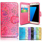 Luxury Bling Diamond Leather wallet flip Case cover For samsung Galaxy Phones
