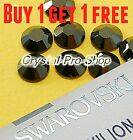 *Buy 1 Get 1 FREE* GENUINE Swarovski Jet Nut 5mm Brown Hotfix Iron On Rhinestone