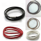 Hot Stainless Steel  Braided Genuine Leather Cord Necklace/Bracelet WB