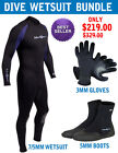 7mm Mens NeoSport Wetsuit Diving Package 7/5mm Wetsuit Glove Boots WARRANTY