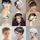 9 Types Bride Crystal Pearl Lace Head Flower Wedding Hair Accessory Handmade