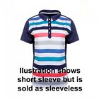 JRB Moisture Golf Sleeveless Shirt Navy/White/Grey/Coral/Blue Striped M, L New