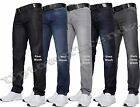 NEW MENS JEANS  SLIM & STRAIGHT FIT  PANTS DARK BLUE ALL WAIST LEG SIZE