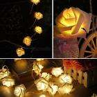 Fairy Wedding Party Christmas Decoration Garland 20 LED Rose Flower String Light