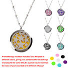 Essential Oil Diffuser Locket Necklace Surgical Hypo-allergenic Stainless Steel