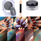 2g Rainbow Holographic Laser Powder Nail Glitter Chrome Pigments Decoration New