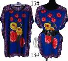 AU SELLER BOHO Women's Tunic Kaftan Loose Long Top/Beach Cover Up S-XL T020-16