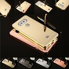 Luxury Ultra-Thin Aluminum Metal Bumber Frame Case+Mirror Back Cover For LG V20