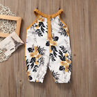 Baby Girls Cotton Bubble Rompers Floral Clothes Summer Bow knot Jumpsuits 0-4T