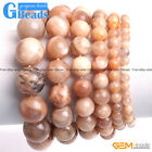 Handmade Natural Sunstone Beaded Bracelet XMAS Jewelry Gifts Free Shipping 7""