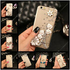 Handmade Diamonds Flower Ultra Thin TPU Soft Back Case Cover For Mobile Phone #2