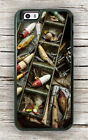 FISHERMAN FISHING TACKLE LURE BOX CASE FOR iPHONE 6 6S or 6 6S PLUS -fjp9Z