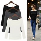 Fashion Women Ladies Casual Pullover Long Sleeve Loose Tops Tee T-Shirt Blouse