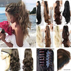 100% Real New Clip In human Hair Extension Pony Claw on Ponytail Hair piece HG97
