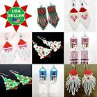 NEW WOMEN CUTE HANDMADE SANTA CLAUS, CHRISTMAS TREE, HOLIDAY JEWELRY EARRINGS