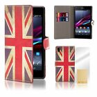 32nd Design Book Wallet Case Cover for Sony Xperia Z1 + Screen Protector
