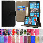 Luxury PU Leather Wallet Phone Stand Flip Case Cover For Nokia Microsoft Lumia