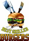 Best Grilled Burgers DECAL (Choose Your Size) Food Sign Restaurant Concession