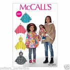 McCall's 7460 Sewing Pattern to MAKE Ponchos w/ Stand-Up Collar or Hood &Doll Sz