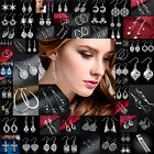 Hot Fashion Women 925 Silver Crystal Rhinestone Ear Stud Drop Earrings