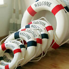 Welcome Aboard Nautical Life Lifebuoy Ring Boat Wall Hanging Home Decoration LAK