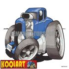 Koolart Cartoon 32 Ford Model A Hotrod 5 Window Coupe Blue - Mens Gifts (3230)