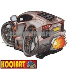 Koolart Cartoon Lambo Lamborghini Aventador Tron Black - Mens Gifts (driven7)