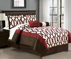 7 Piece Astrid Chocolate/Burgundy Comforter Set