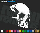 "Skull Decal 6""x4.8"" Death Skulls Skeleton Vinyl Car Window Sticker (RH) V2 JK8"