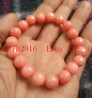 Natural 8mm-10mm Pink Morganit faceted round bead Gemstone Bracelet Bang7.5''AAA