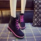 Fashion Women School Style Girl Ankle Snow Flat Boot Fur Lining Punk Creep Shoes