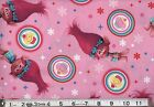 TROLLS on pink : 100% LICENSED cotton  : by the 1/2 metre