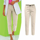 Push Up TRENDY! Hose Beige Stretch PANTS bequem Gr.48 XXL
