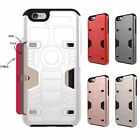 Hybrid Card Holder Armor Shockproof Rubber Stand Case Cover For iPhone 6S 7 Plus