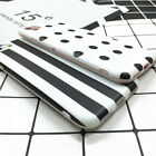 Simple Stripes Polka Dots Phone Cover For iPhone 6 6s 7 plus Silicone BlackWhite