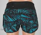 NEW LULULEMON Run Speed Short 2 4 6 10 Palm Lace Tofino Teal Black NWT FREE SHIP