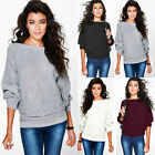 Women's Loose Long Sleeve Casual Blouse knit Shirt Tops New Fashion Blouse US