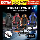 NEW Executive Gaming Office Chair Racing Computer PU Leather Mesh Seat Work Race