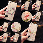 For Huawei Bling Crystals Handmade TPU Soft Transparent Back Case Cover