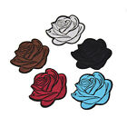 1 Set Rose Embroidery Iron on Patches Badge Applique DIY Clothes Craft Random