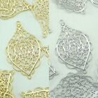 Baroque Metal Beads Pendants Gold Silver Beads for Jewelry Making Supplies #220