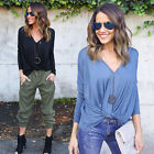 Women Lady Loose Long Sleeve Casual Blouse Shirt Top New Fashion Blouse US Stock