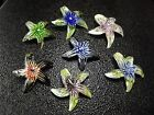 45MM Beautiful Starfish Lampwork Glass Pendant Necklace Bead 7pcs