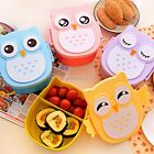 New Cute Cartoon Owl Lunch Box Portable Bento Box Picnic Container with K0E1