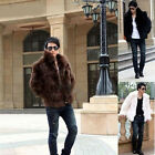Men's Faux Fur Overcoat 3 Colors Hooded Jacket Winter Coat Outwear GOOD Gifts
