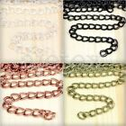 6.56 feet 2m Double Curb  Unfinished Chains Necklace DIY Jewelry 7.8x6.5x0.8mm
