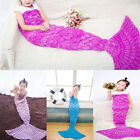New Kids Crocheted Mermaid Tail Blanket Cocoon Children Handmade Lapghan Quilt
