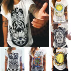 Fashion Women Summer Tops Loose Tee Short Sleeve T Shirt Casual Blouse Tops LAUS