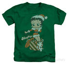 Juvenile: Betty Boop - Define Naughty Apparel Kids T-Shirt - Kelly Green $14.99 USD